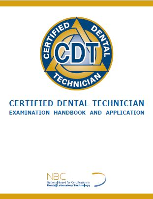 CDT Application & Exam Process - National Board for Certification in ...